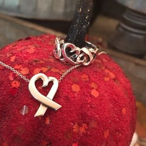 Tiffany & Co Loving Heart Necklace & Triple ♥️Ring